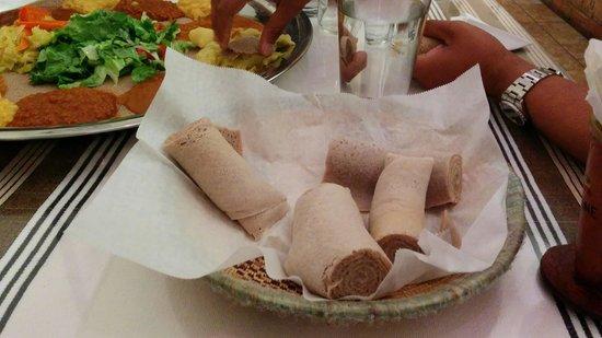 Zeni Ethiopian Restaurant : Food platter