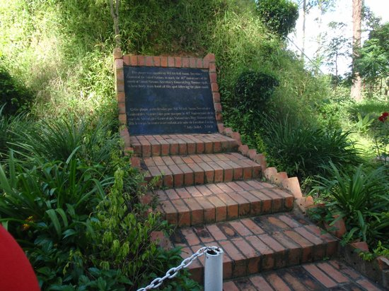 Ndola, Zambia: Memory on the hilly place where Dag Hammarskjöld was found 1961...