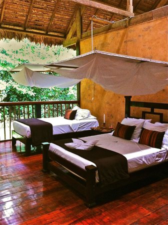Posada Amazonas: Open air rooms with mosquito nets