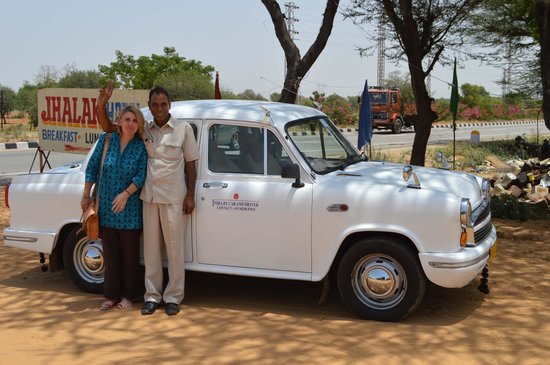 India By Car and Driver - Day Tours: Omveer our lovely driver with a classic Ambassador car that we had for a few days..