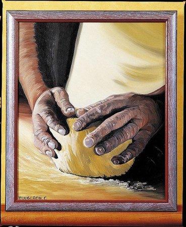 le Clos  champel : travail  du  pain