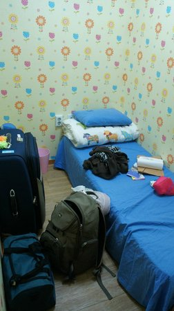 Backpackers Inside : my small but private room. just a place to crash and sleep