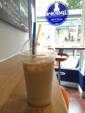 Jimbob's Baguettes: Iced Coffees, served all day every day. Loads of flavours, only £2!!