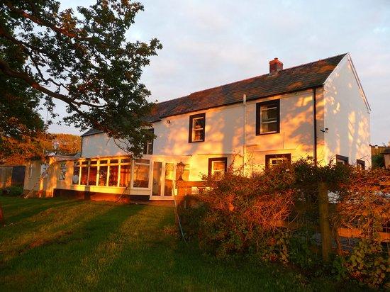 Knock Farm: Evening sunset on Farm House