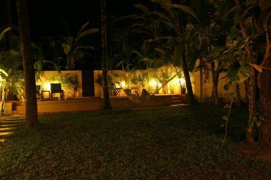 Marari Villas: Hammock and the pool