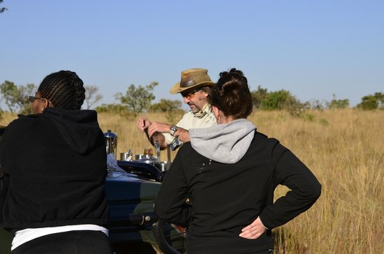 Makweti Safari Lodge : Tea and coffee break during the morning game drive