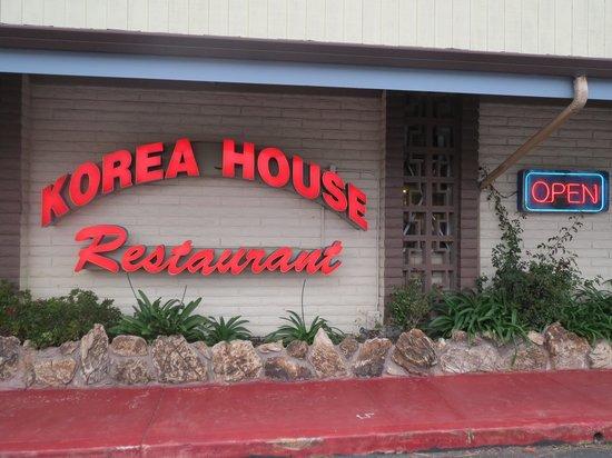 Korea House: signage