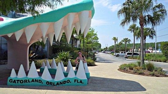 Gatorland: The famous gator mouth entrance
