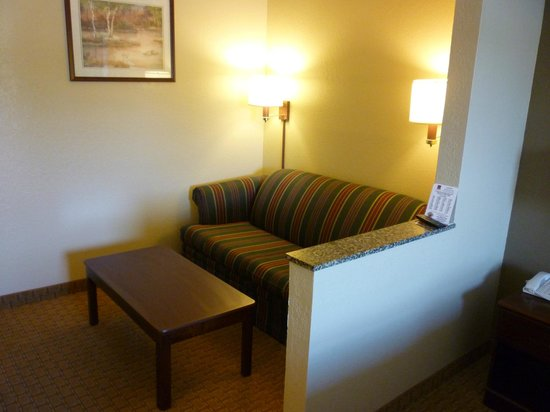 Rather Cramped Sitting Area Picture Of Comfort Suites Vincennes