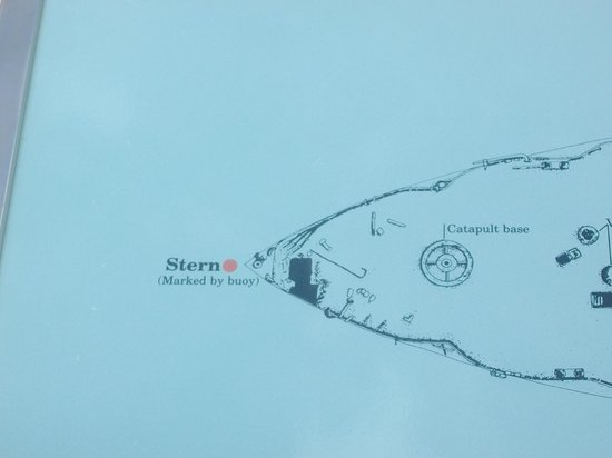 USS Arizona Memorial/World War II Valor in the Pacific National Monument: Arizona Diagram