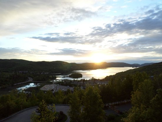 Tremblant Sunstar Condominiums: sunset view from our condo