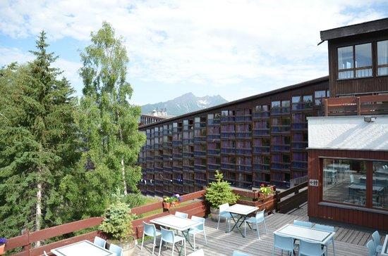 Hotel du Golf: Vu de la terrasse