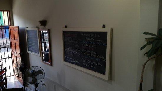 Restaurante El Garaje: The Menu