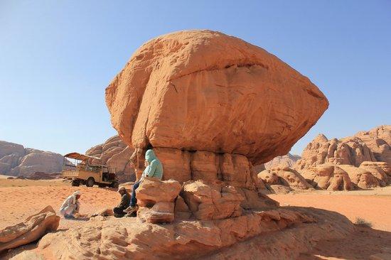 Aqaba, Jordan: Tea at Mushroom rock Wadi Rum