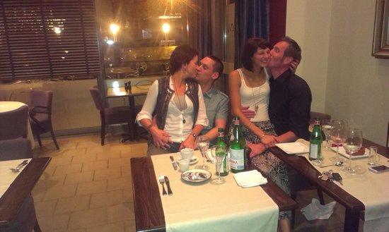 Bocca d'Oro: herinnering aan een fijne avond. Veerle en Andy