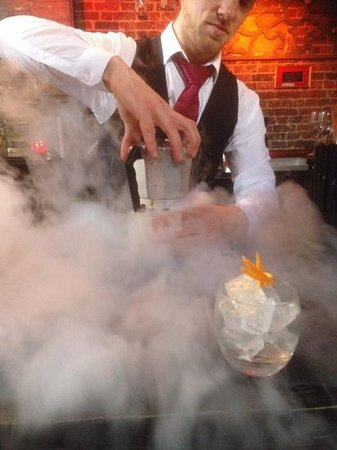 Bohemia: dry ice cocktail