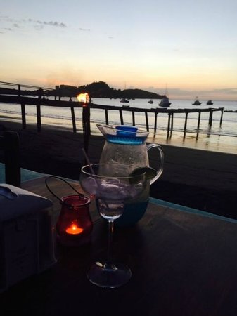 The Beach House Restaurant and Bar: Sunset with Margarita