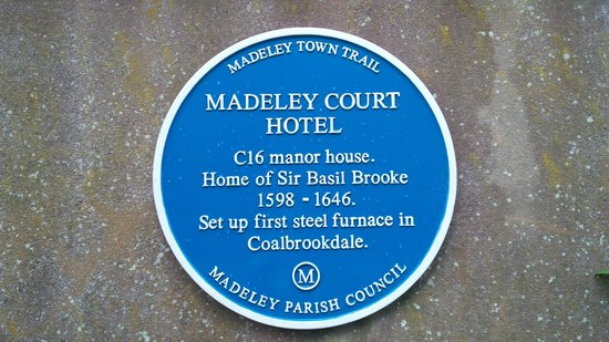 Mercure Telford Madeley Court Hotel: Blue Plaque
