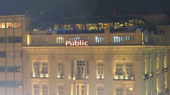 Public Cafe: The terrace of the Public