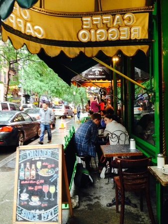 Caffe Reggio: The View from Sidewalk Table