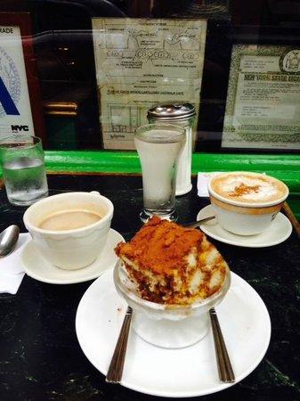 Caffe Reggio: Double Espresso w/ Irish Cream, Cappuccino & Tiramisu