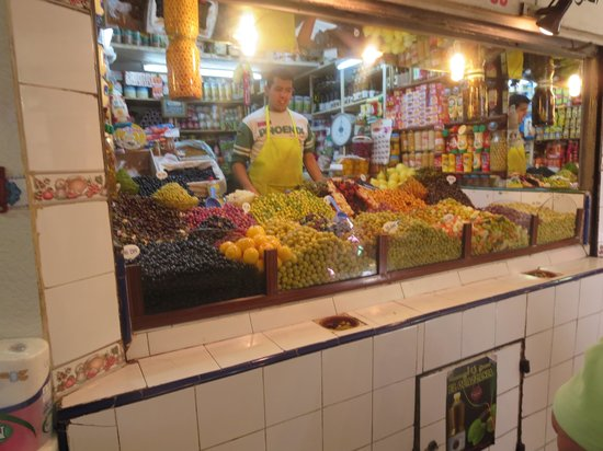 Tangier Casbah : Olive merchant
