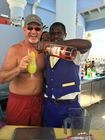 """Iberostar Grand Hotel Rose Hall : Me and Jerry at the pool bar with a """"Cool Operator"""""""