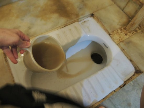 Pyrenees Homestay: Dirty water that comes out of the faucets