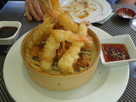 Sushilounge: Langostinos en tempura
