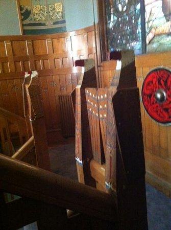 Landgoed Jachtslot de Mookerheide : mooi houtwerk in jugendstill-stijl