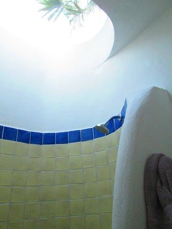 Don Diego de la Selva: Muy original la ducha con el techo trasparente