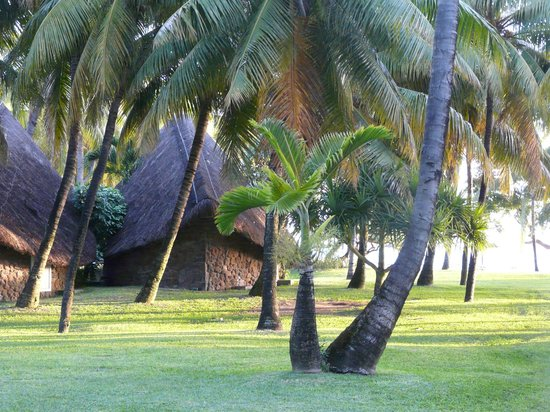 La Pirogue Resort & Spa : le jardin et bungalow