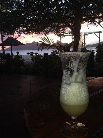 Palm Island Resort & Spa : pina colada at sunset