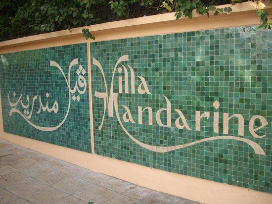Villa Mandarine : Entrance - Mosaic Tiles