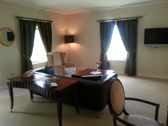 The Lodge at Ashford Castle: seating area in room
