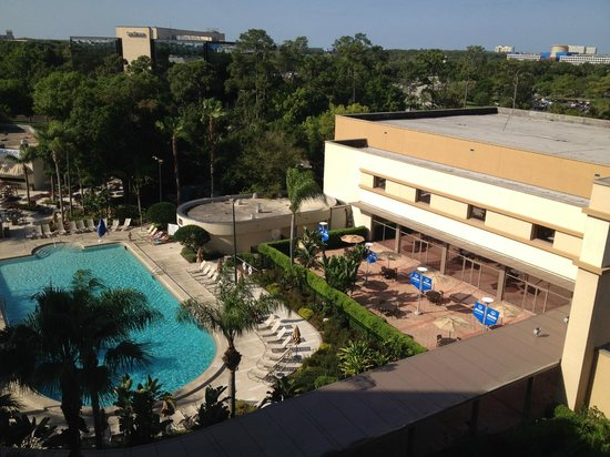 Hilton Orlando Lake Buena Vista - Disney Springs™ Area: Looking down on the pool area.