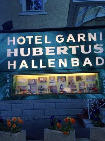 Hotel Garni Hubertus : Insegna