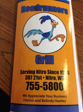Roadrunner Grill: Menu