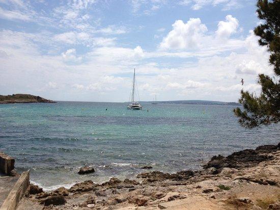 Illetas Beach: View from Cala Comtessa chiringuito