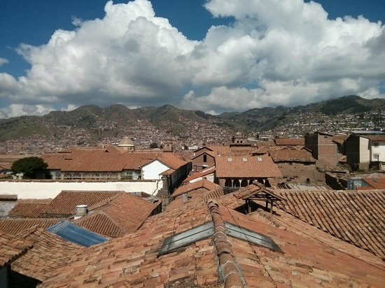 Amaru Hostal: Rooftop view of Cusco from room 215