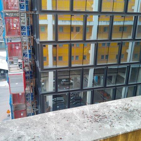 Quality Hotel Globe: Blick auf die Baustelle