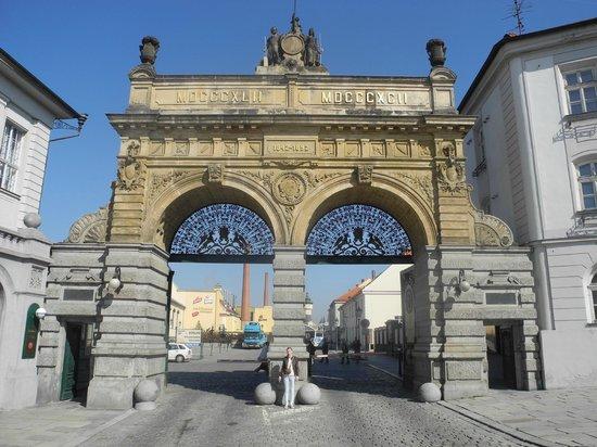 Pilsner Urquell Brewery: Главные ворота завода