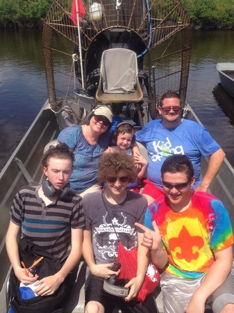 Captain Jack's Airboat Tours: At the sandbar