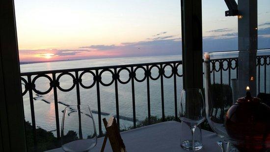 Hotel Posillipo Gabicce Monte: Ristorante vista mare