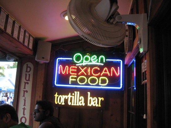 Amigos Tortilla Bar: Festive sign