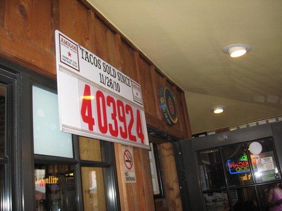 Amigos Tortilla Bar: Many tacos served