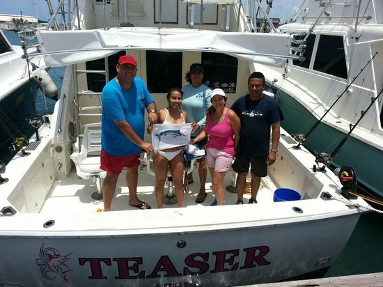 Teaser Charters : My family and I after our trip!