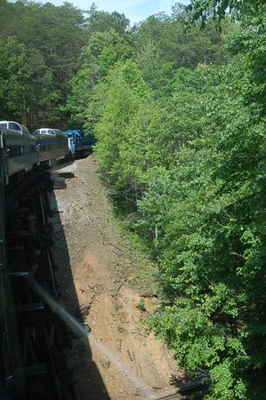 Hiwassee River Rail Adventure : View of dome cars