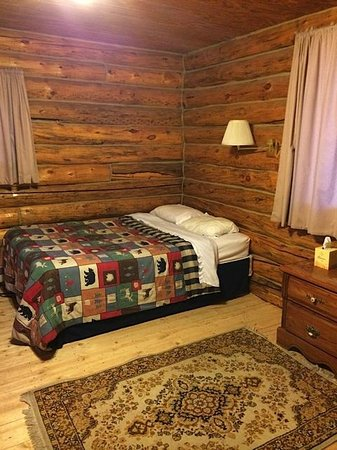 Medicine Bow Lodge: My cozy room, with all amenities (happy without TV!)