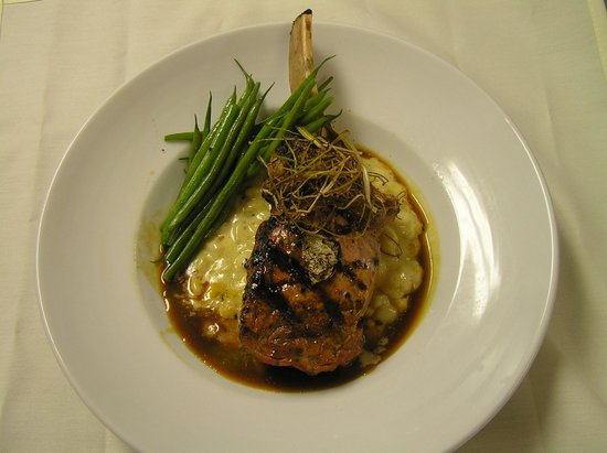 Vermont Supper Club: Grilled Veal Chop with Truffled Demi Glace